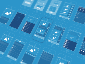 Mobile design blue background