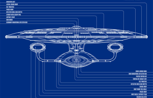 wireframe of a spaceship